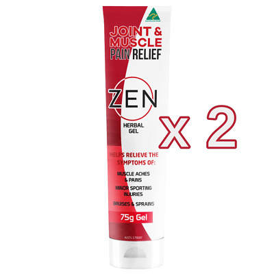 2 X Zen Herbal Gel - Joint & Muscle Relief 40g Tube - Aches & Pains - Brand New