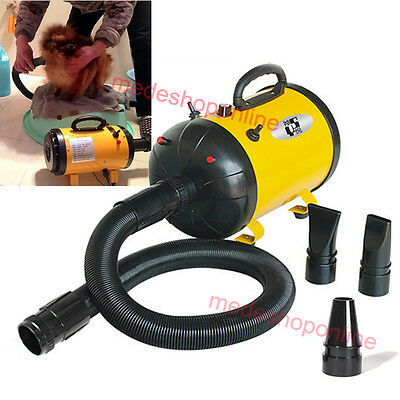 2016 Portable Dog Cat Grooming Pet Blow Hair Dryer Quick Draw Hairdryer 2400WA+