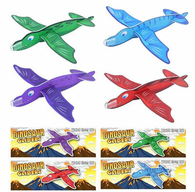 6 Dinosaur Gliders - Styrofoam Planes Pinata Toy Loot/Party Bag Fillers Wedding/