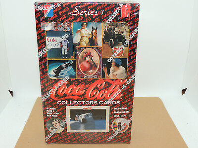 Coca Cola Collectors Cards 8 cards and 1 coke Cap per pack unopened set 36(9902)