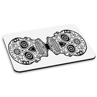 Reflected Sugar Skull Design Day of the Dead PC Computer Mouse Mat Pad