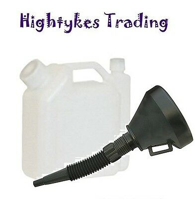 2 Stroke Petrol and Fuel Oil Mix Mixing Bottle with Funnel for Chainsaw Strimmer