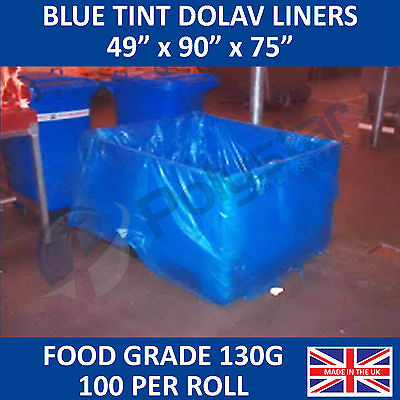 """Dolav Liners Blue Tint 49"""" x 90"""" x 75""""        Free next day delivery"""