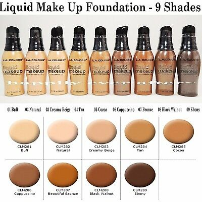 L.A. Colors Mineral Liquid Foundation - Make Up Face Foundation for Natural Look