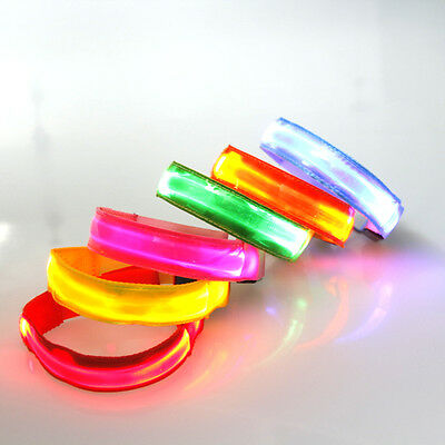 LED Safety Flashing Armband Reflective Strap Runners Joggers Cyclists
