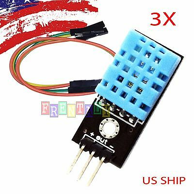 3X 3 PCS DHT11 Temperature and Relative Humidity Sensor Module for arduino