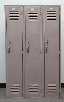 "Used Metal School Lockers 36""W X 15""D X 60""H"