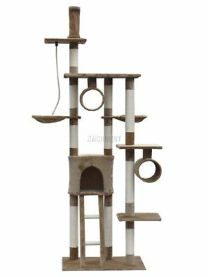 FoxHunter Cat Tree Scratching Post Activity Centre Bed Toys Scratcher D006 Brown