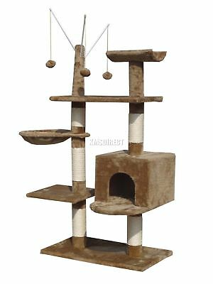 FoxHunter Cat Tree Scratching Post Activity Centre Bed Toys Scratcher 2288 Brown
