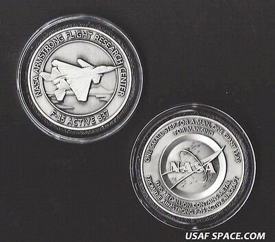 F-15 - ARMSTRONG NASA DRYDEN F-15 Aircraft FLOWN Metal COIN / MEDALLION USAF