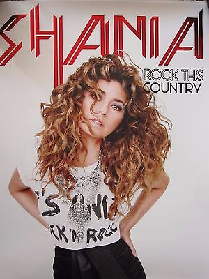 Shania Twain Rock This Country Tour VIP Exclusive Lithograph Poster