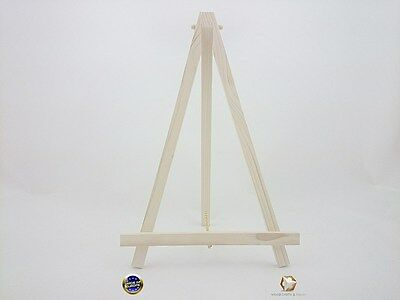 Wood Easel 33 Cm With Chain For Wedding Place, Name Holder Or Table Number