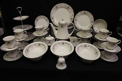 MINT 82 Pc Noritake Fine Ivory China ADAGIO Pattern #7237, Service for 12, Japan