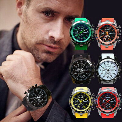 2015 Men's Watch Luxury Stainless Steel Sport Analog Quartz Modern Wrist Watch*A