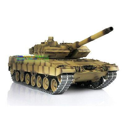 HengLong Full Metal Chasis Refitted Camou Brown German Leopard2A6 RC Tank 3889
