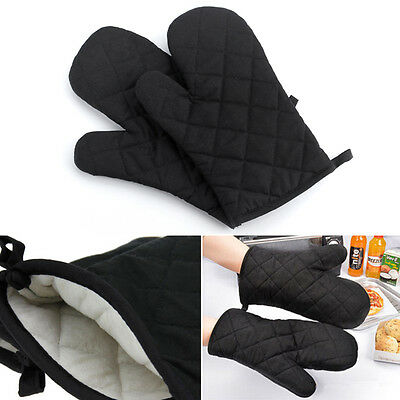 1Pair Cotton Thick Kitchen Baking Cook Insulated Padded Oven Gloves Mitt New