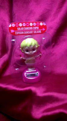 """Solar Powered Dancing Cupid Angel 4"""" Plastic In Stock Now! New Valentine's Day"""