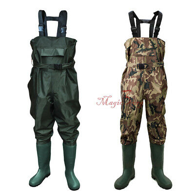 Nylon Chest Waders 100% Waterproof Size 6 - 13 Fly Coarse Fishing Farming