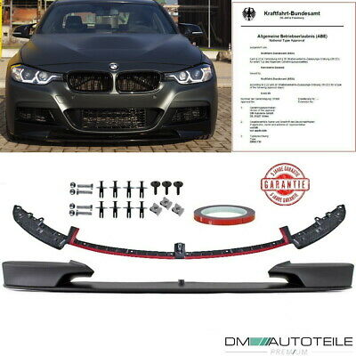 BMW 3er F30 Limousine F31 Touring Frontspoiler Lippe M-Performance Look aus ABS