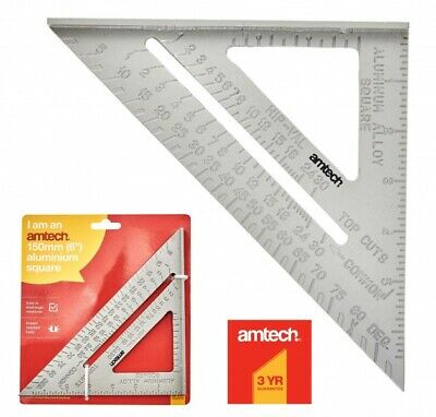 "6"" Aluminium Alloy Square Measuring Tool Roofing Triangle Joiners Joinery NEW"