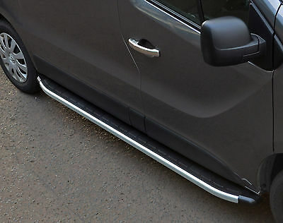To Fit Renault Trafic 2014+ Lwb: Aluminium Running Boards Side Steps / Bars