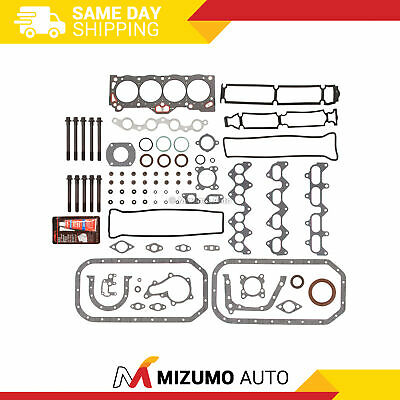 Fit 88-91 Toyota Geo Chevy 1.6 Full Gasket Set + Bolts 4AGE
