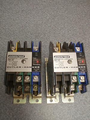 LOT OF 2 - CUTLER HAMMER Type RM POWEREED D40RM Magnetic Latching Relay 24/28VDC