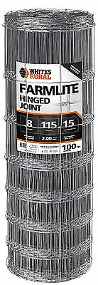 FENCING WIRE HINGE JOINT 8/115/15 100m SHEEP GOAT DOG RURAL FARM GAL MESH