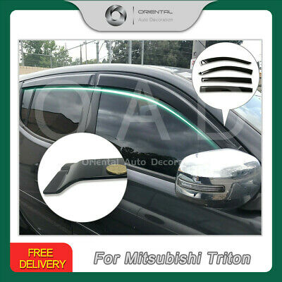 Premium Weather Shields Weathershields Window Visor for Triton dual cab 06-15