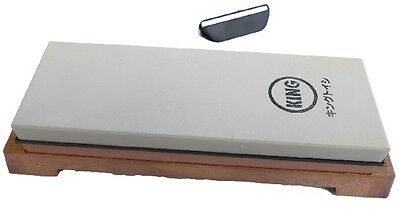 Japanese whetstone water stone sharpening stone King KW-65 #1000/6000 with guide