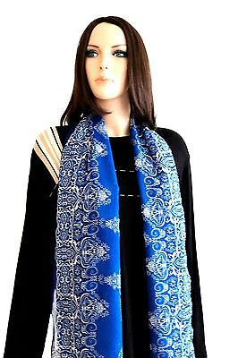 Scarves For Women Silk Scarf Shawl Neck Scarf Pashmina Scarf Blue Scarf Scarfs