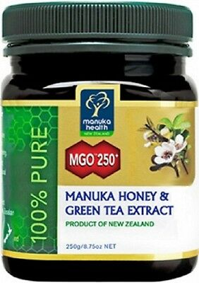 Manuka Health Premium Manuka Honey & Green Tea Extract 250g