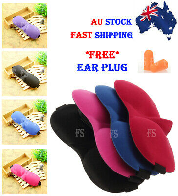 3D Travel Eye Mask Sleeping Sleep Cover Nap Rest Blindfold *Aus Stock*
