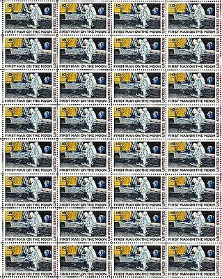1969 - MAN ON THE MOON - #C76 Full Mint -MNH- Sheet of 32 Vintage Airmail Stamps