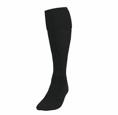 Black Football Socks Soccer Hockey Rugby Sports Socks PE Boys/Girls Mens/Womens