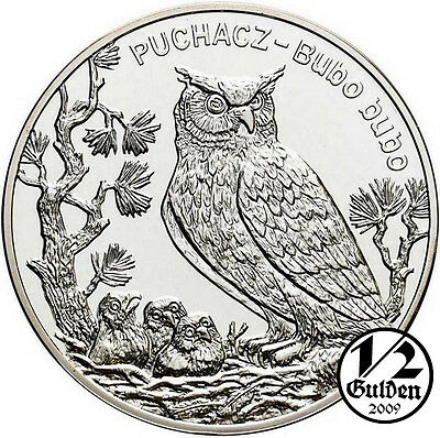 POLAND 20 Zlotych 2005 Eagle Owl Puchacz Silver Proof Coin Polish Mint