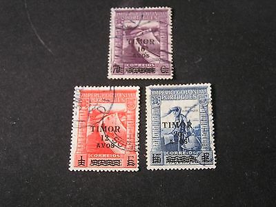 *timor, Scott # 243-245(3), Total 3 1946 Stamps Of Mozambique Ovpt Issue Used