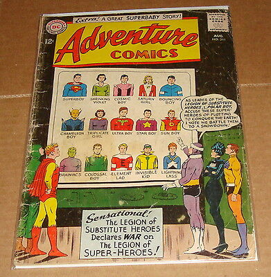 1963 Adventure Comics #311 1st Print Legion of Super-Heroes 12 Cent Cover