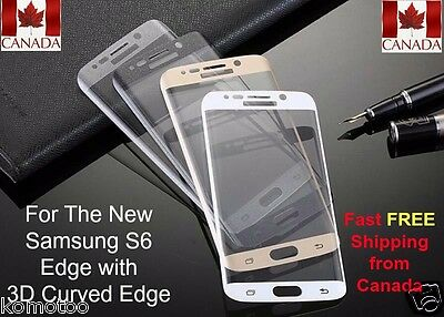 Samsung Galaxy S6 Edge Full Cover Tempered Glass 3D Curved Screen Protector