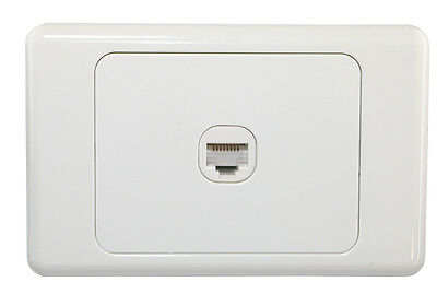 1 Gang Wall Plate Wallplate Clipsal Style 1 RJ45 Cat 6 Data Network LAN Jack