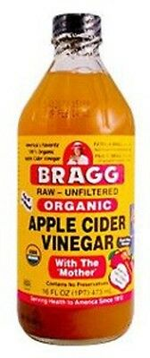Bragg Organic Apple Cider Vinegar 473ml with The Mother, Raw & Unfiltered