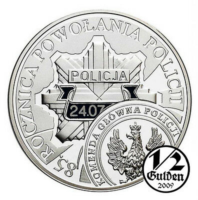 POLAND 10 Zlotych 2004 the Police Zloty Silver Proof Coin Polish Mint
