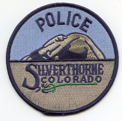SILVERTHORNE COLORADO CO colorful POLICE PATCH