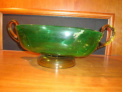"Steuben(signed) Large bowl 15 "" Long Perfect Condition  Very Rare F Carder# 6022"