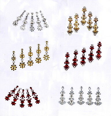 1 PACK of METALIC Diamante **CHOOSE YOUR STYLE** Indian BRIDAL Gem TIKKA BINDI