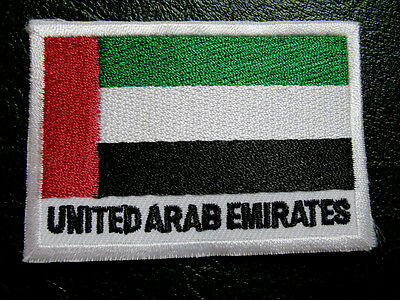 UNITED ARAB EMIRATES UAE EMIRATI NATIONAL FLAG Sew on Patch Free Shipping