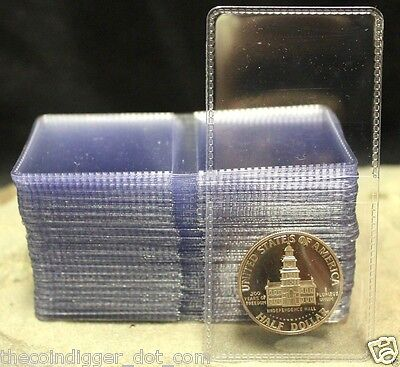 100 Double Pocket 2x2 Coin Holder Vinyl Flip 7mil Thick Guardhouse Storage Flips