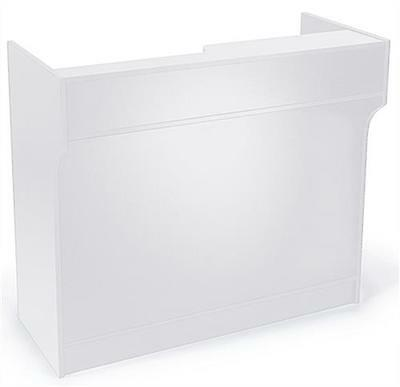 """4' White Wooden Knockdown ledge top counter / POS Counter 21""""D x 42""""H"""
