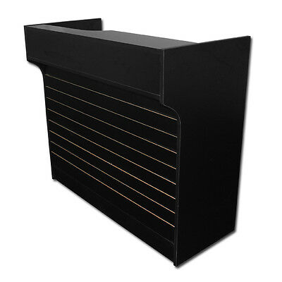 """4' Black Slatwall Front Knockdown ledge top counter / POS Counter 21""""D x 42""""H"""