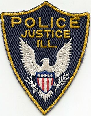 old vintage JUSTICE ILLINOIS IL POLICE PATCH